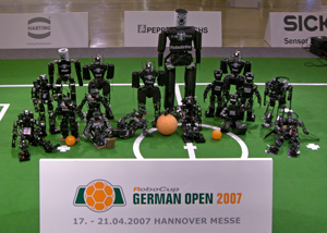 Humanoid League robots at German Open 2007